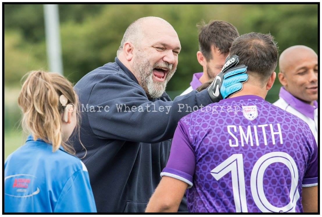 Laughs - #NeilRuddock and the team take to the pitch