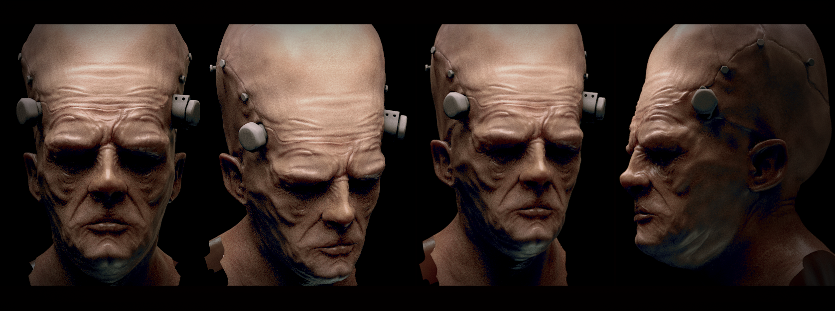 Wotking on a vray skin shader for an ongoing project I'm working on
