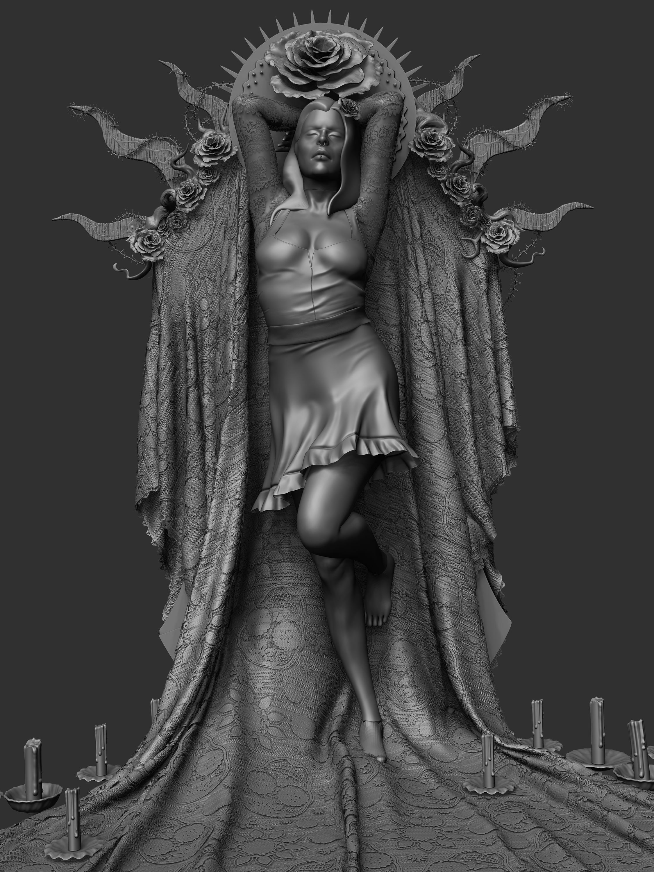 BPR render of where the sculpt is at. Still a long road ahead to finish this one off!