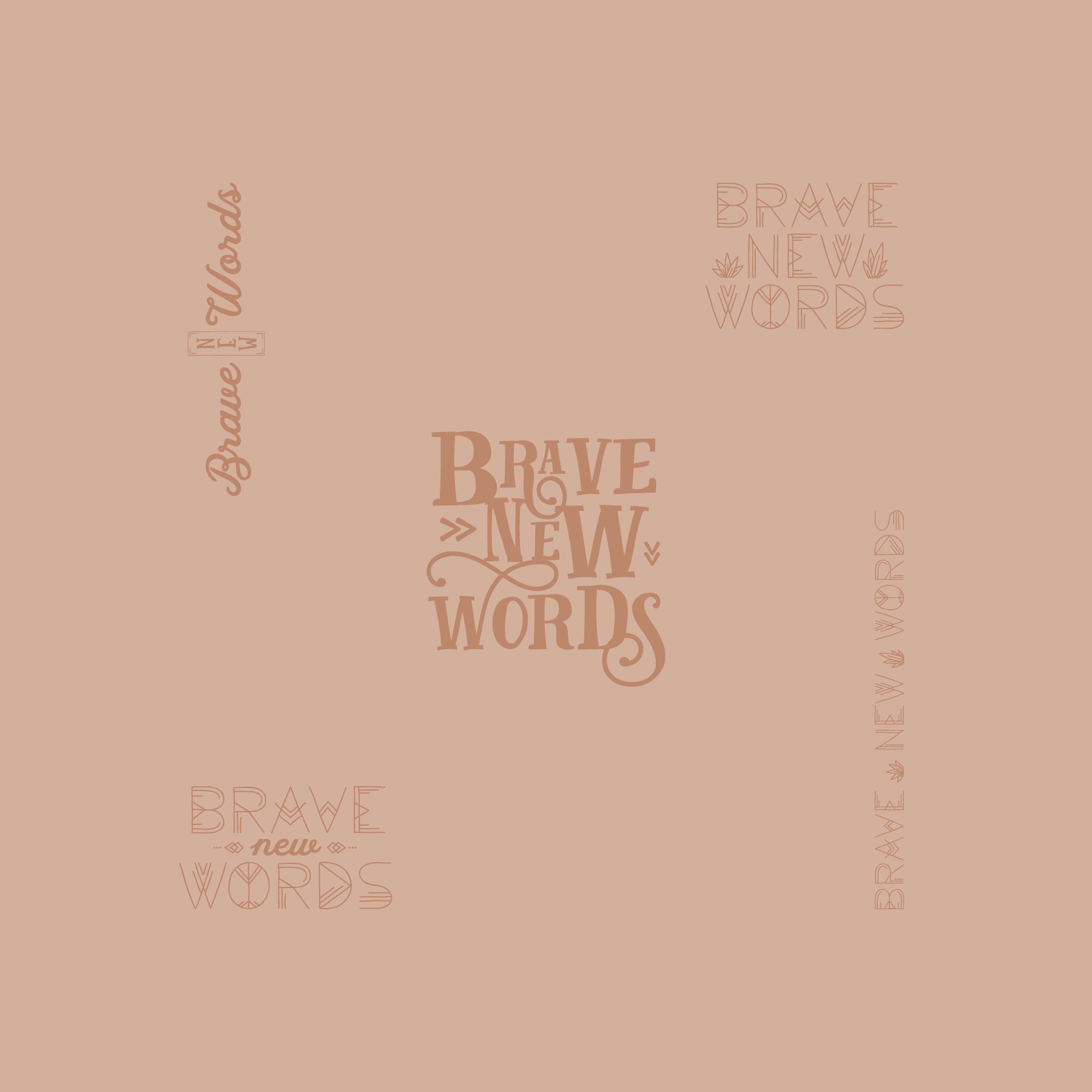 Brave New Words Logo Design