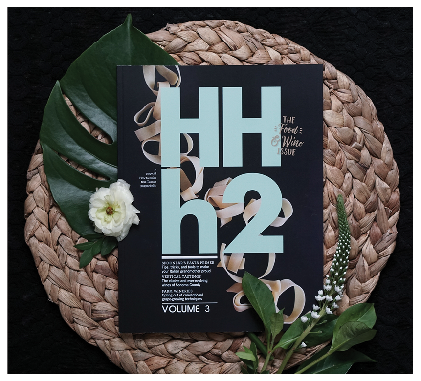 Magazine cover design for Healdsburg Hotel