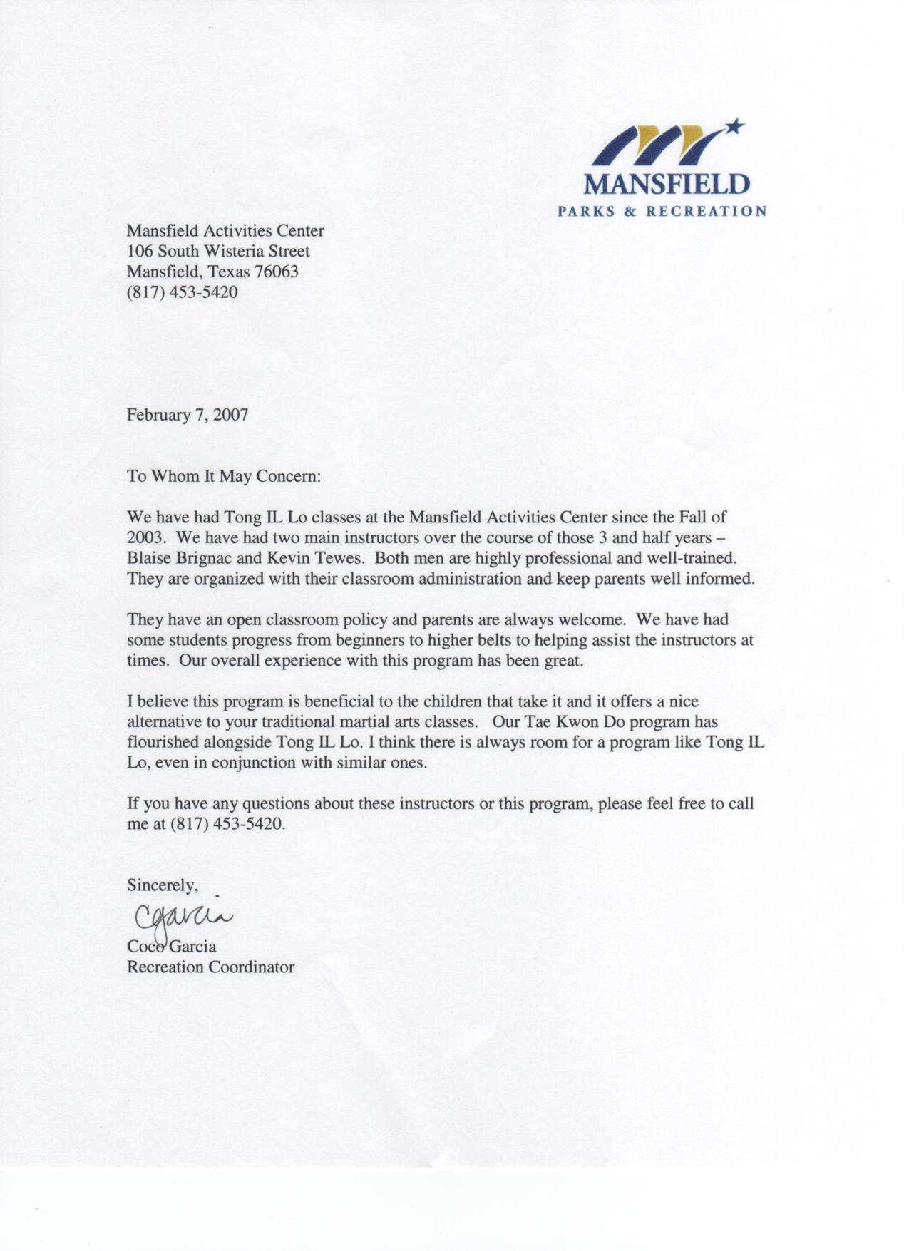 Mansfield Recommendation Letter.JPG