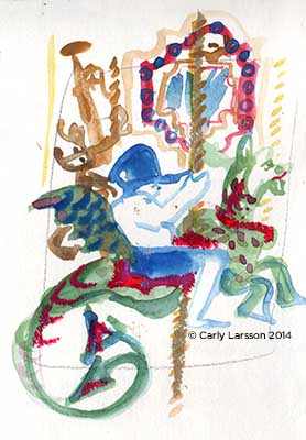 The Boston Common Carousel © Carly Larsson 2014