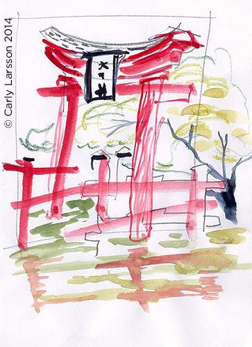 Shinto shrine at the Brooklyn Botanic Garden © Carly Larsson 2014