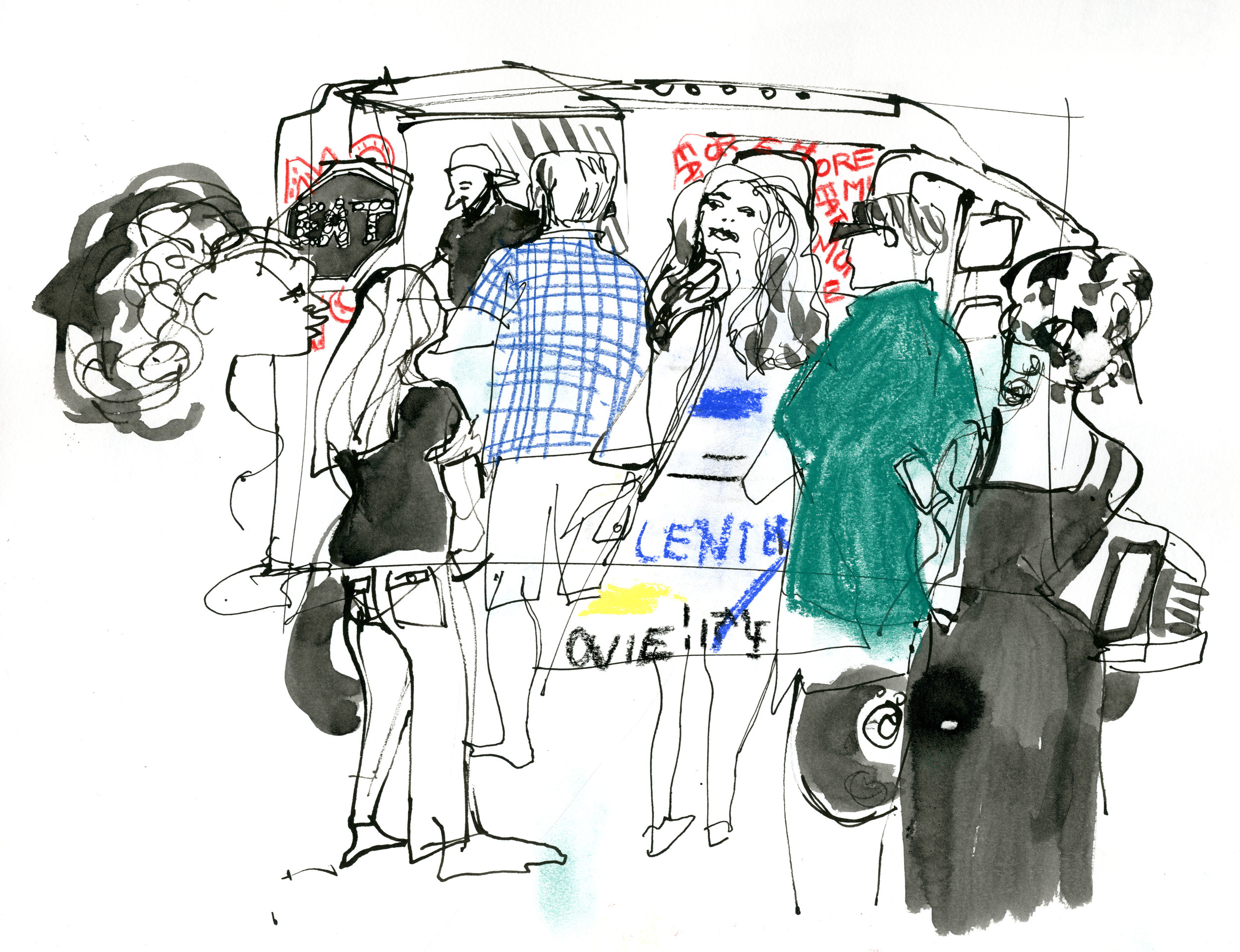 The Eat Morris food truck on Water Street, DUMBO. © Carly Larsson 2014