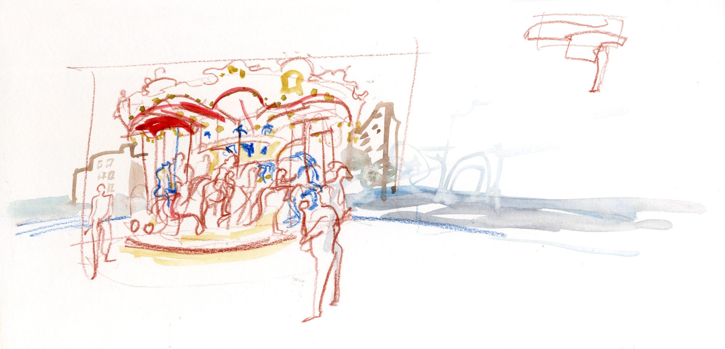 Jane's Carousel in Brooklyn Bridge Park. © Carly Larsson 2014.