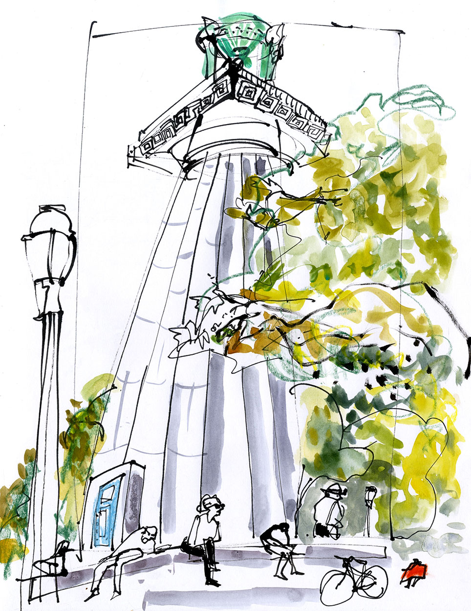 View of the monument from outside © Carly Larsson 2014