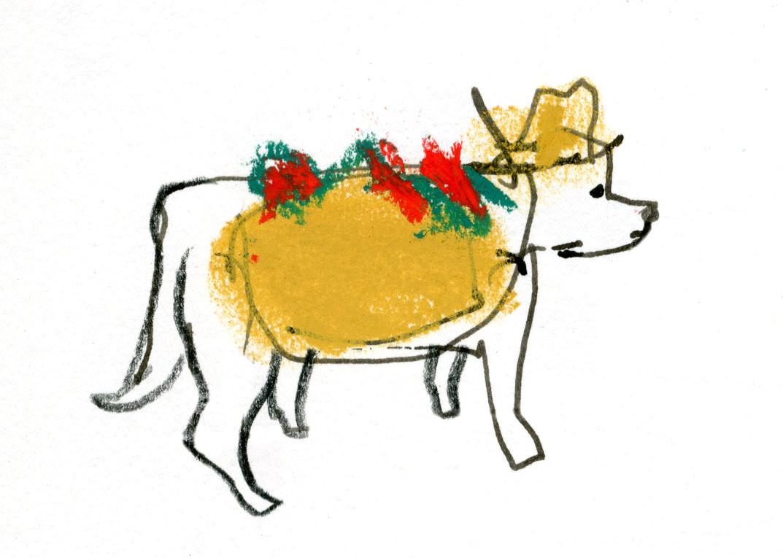 Taco dog © Carly Larsson 2014
