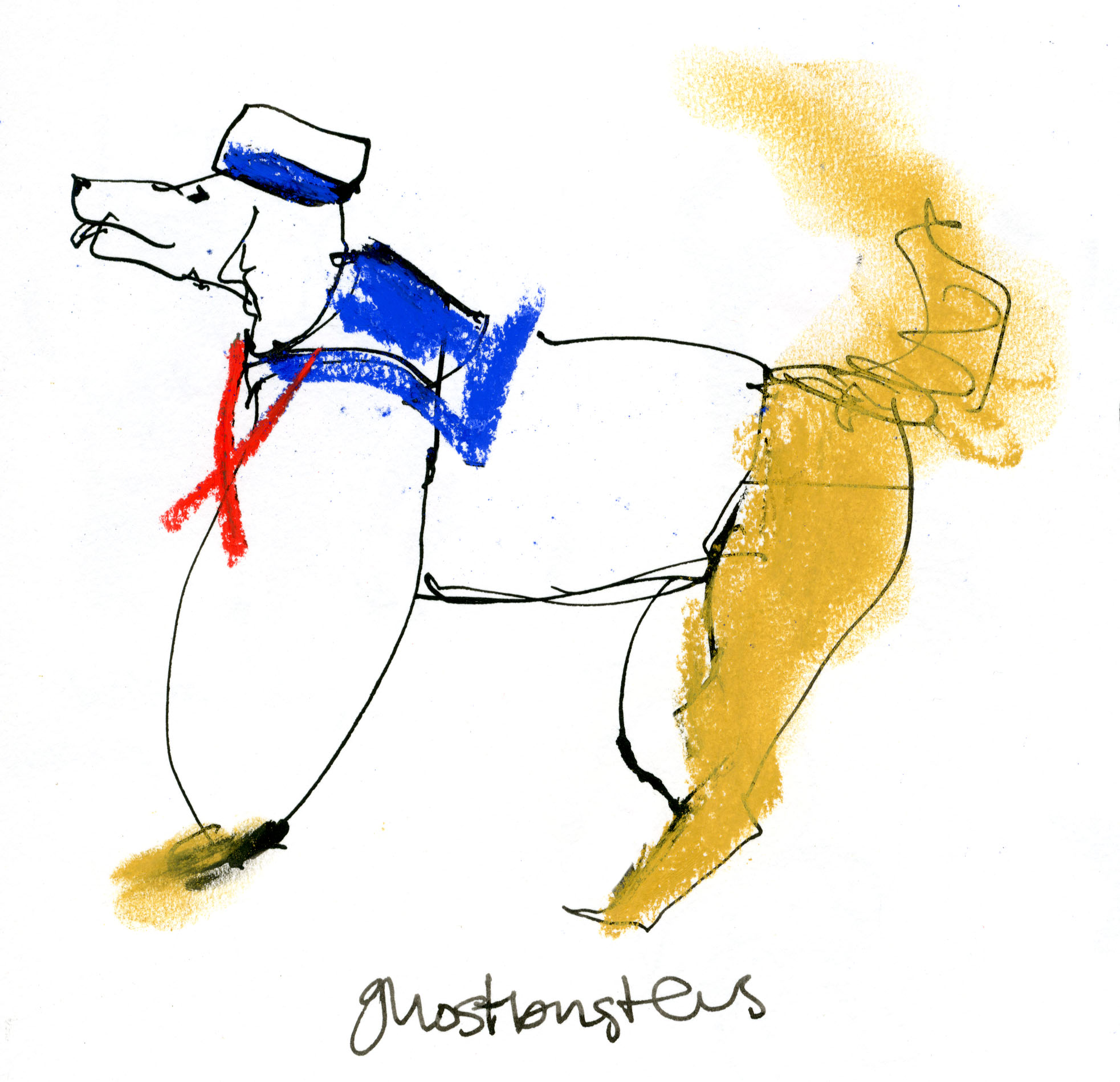 Stay Puft Marshmallow Dog © Carly Larsson 2014
