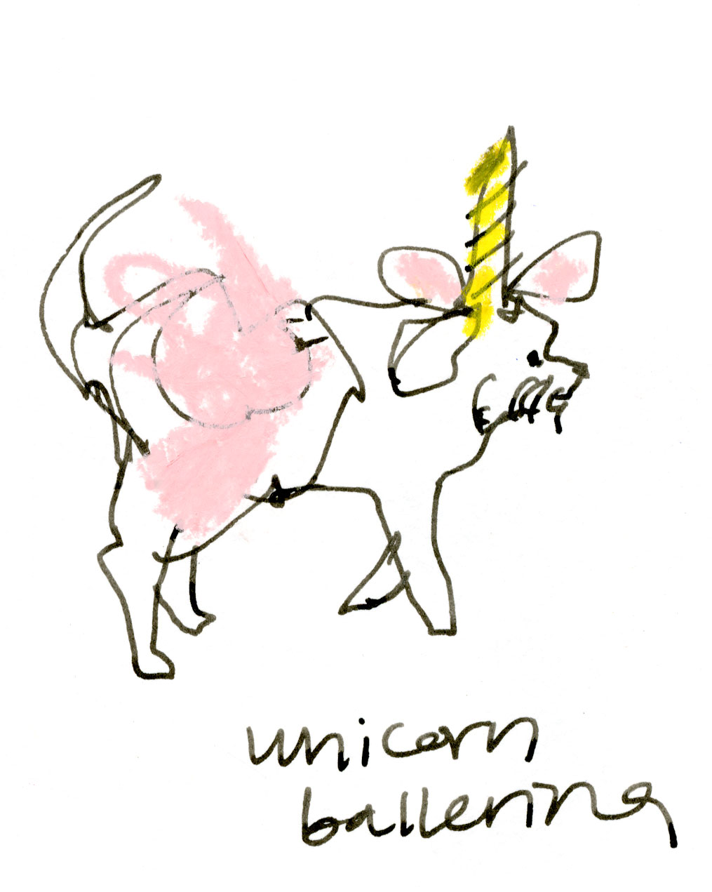 Unicorn ballerina dog © Carly Larsson 2014
