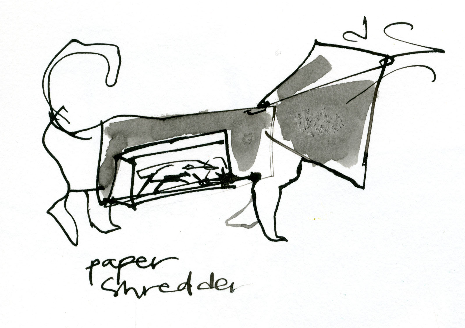 Paper shredder © Carly Larsson 2014