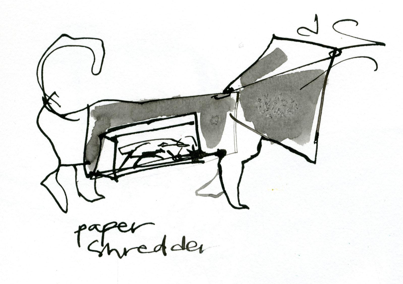 Paper shredder © Carly Larsson 2014