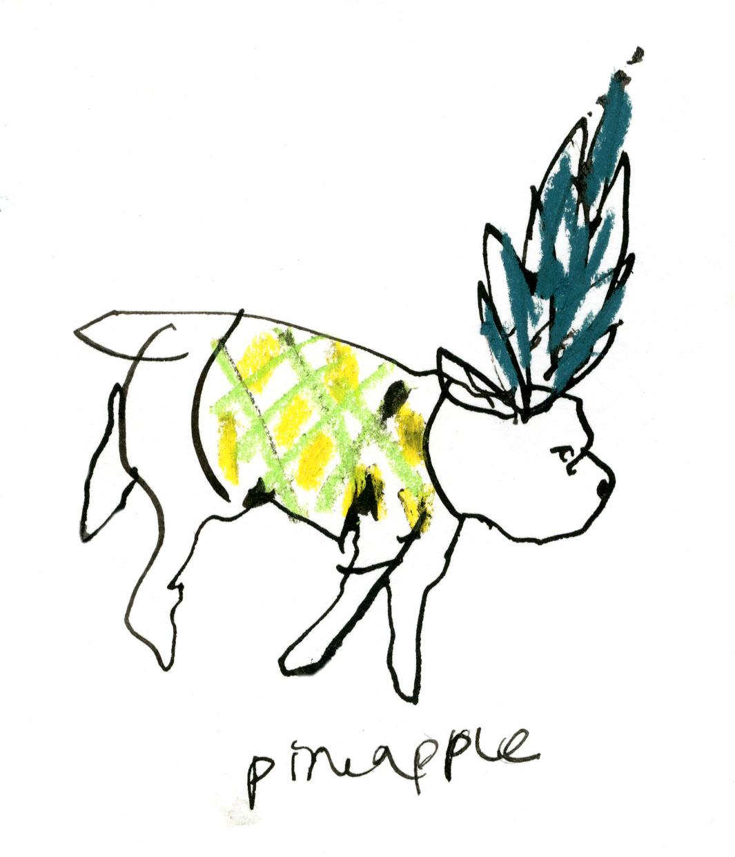 Pineapple dog © Carly Larsson 2014