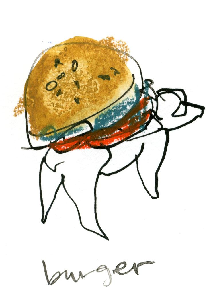 An adorable burger pup © Carly Larsson 2014