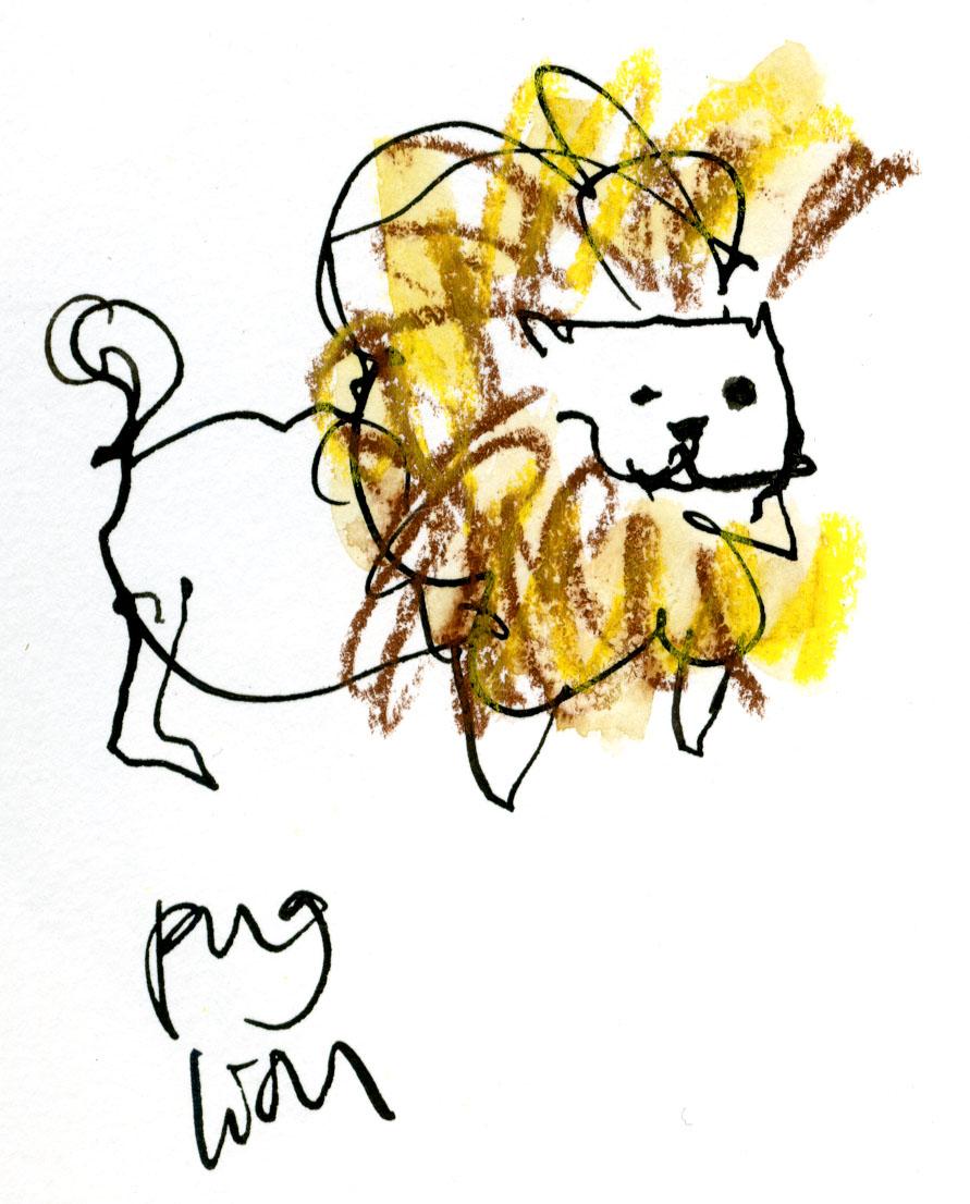 Pug lion © Carly Larsson 2014