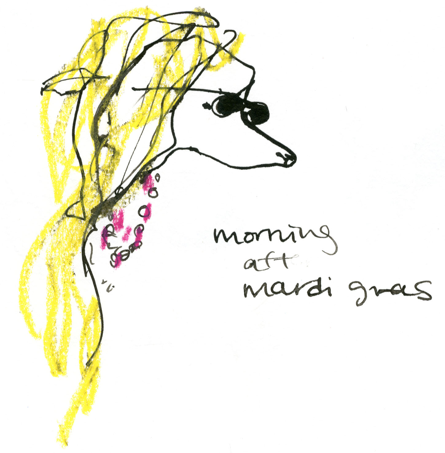 Morning after Mardi Gras dog © Carly Larsson 2014