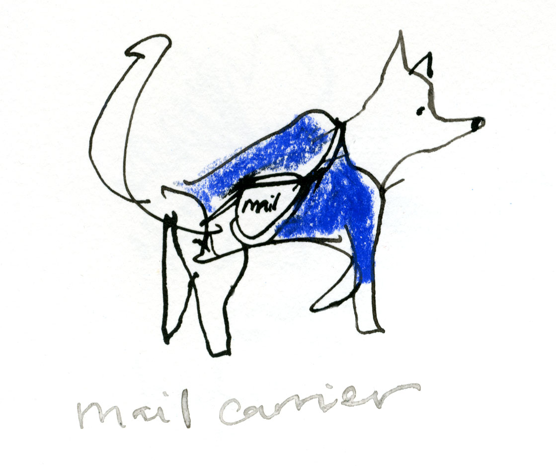 Mail dog © Carly Larsson 2014