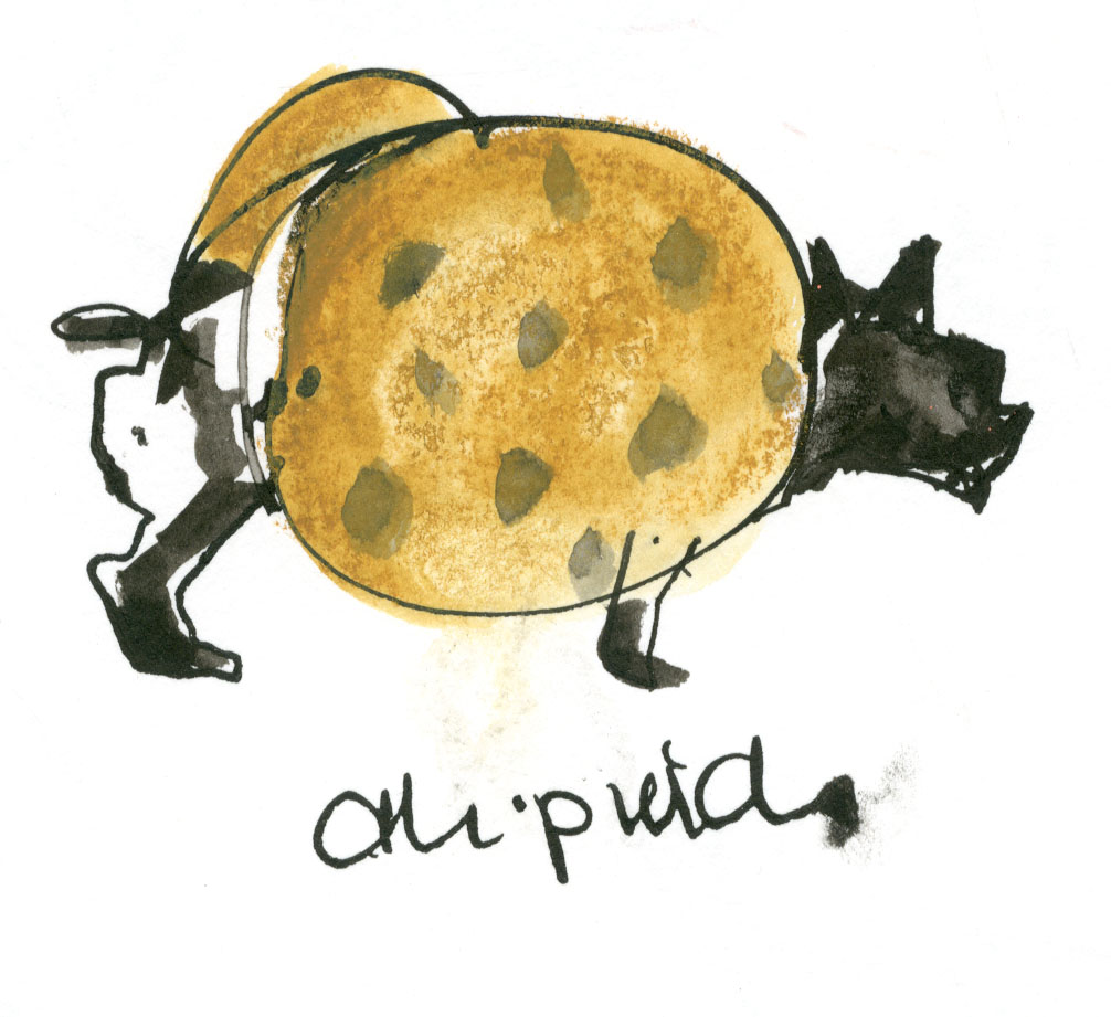 Chipwich dog... was actually white, but there was some ink spillage, so I just went with it ;) © Carly Larsson 2014