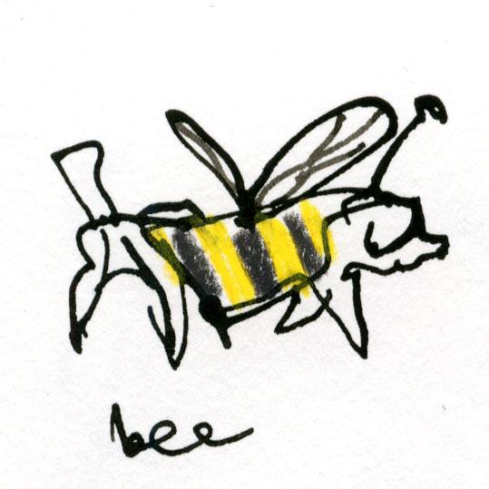 Bee dog © Carly Larsson