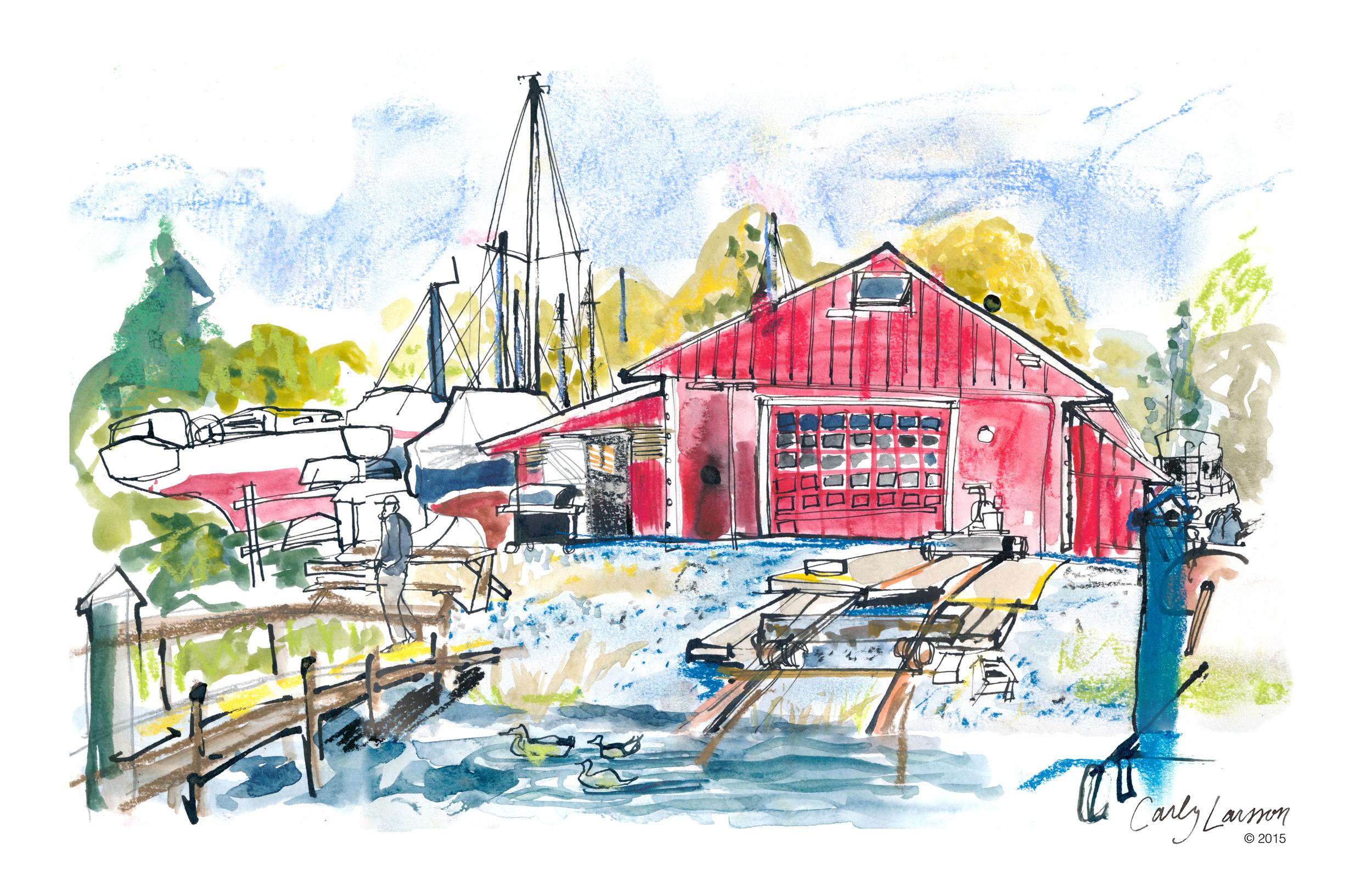 Bucky Barlow's Boat Yard, Pocasset MA. © Carly Larsson 2015