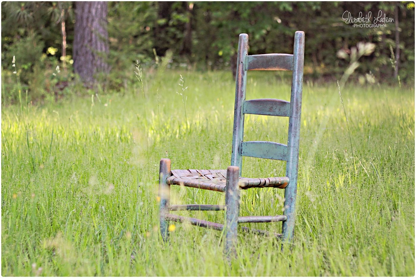 Dug out an old chair that belonged to a great-grandparent. The light and the tall grass were calling my name, even if these are just photos of an empty chair...;o)