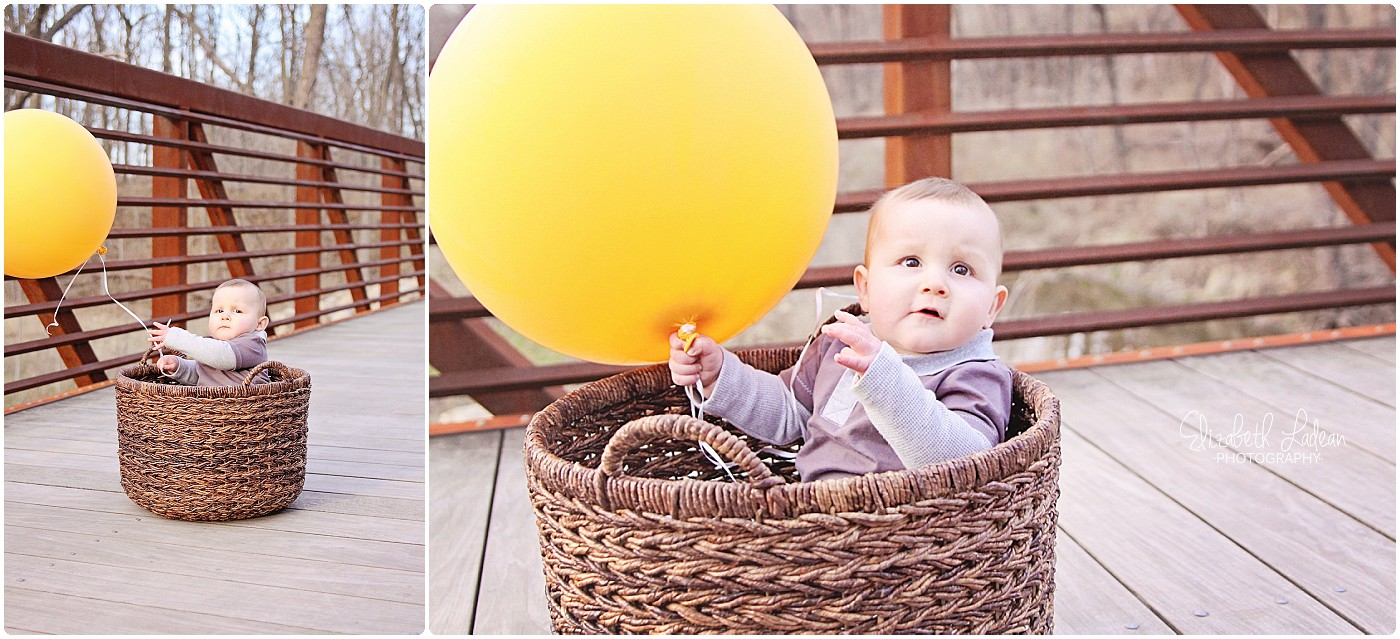 That look I'm getting in the image on the left - It's so evident, me and my camera are bothering him and his balloon!