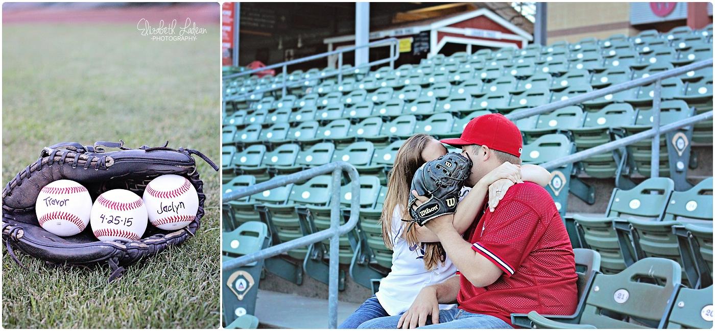 Kansas City Community America Ballpark Engagement photos