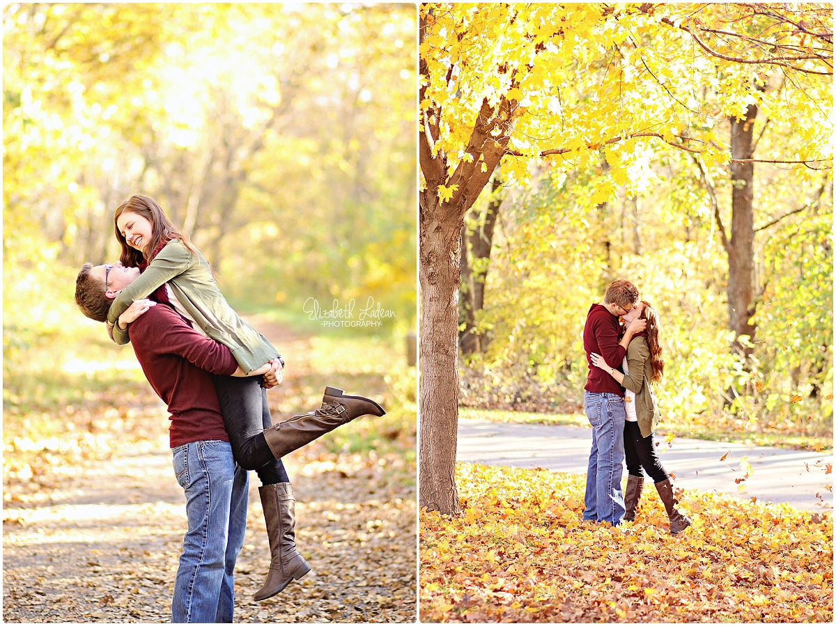 Weston Bend - Fall engagement photos