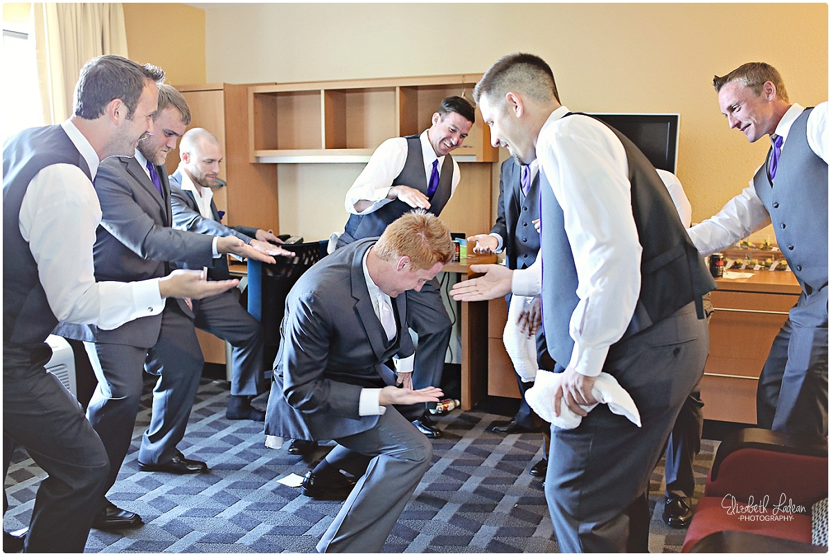 I really love when the groomsmen get goofy! :)