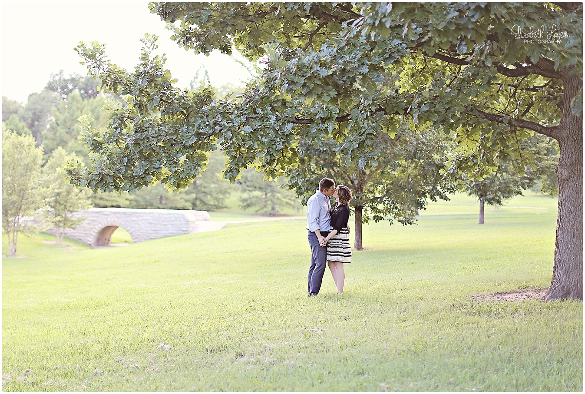 Under the very tree where Andrew proposed!!