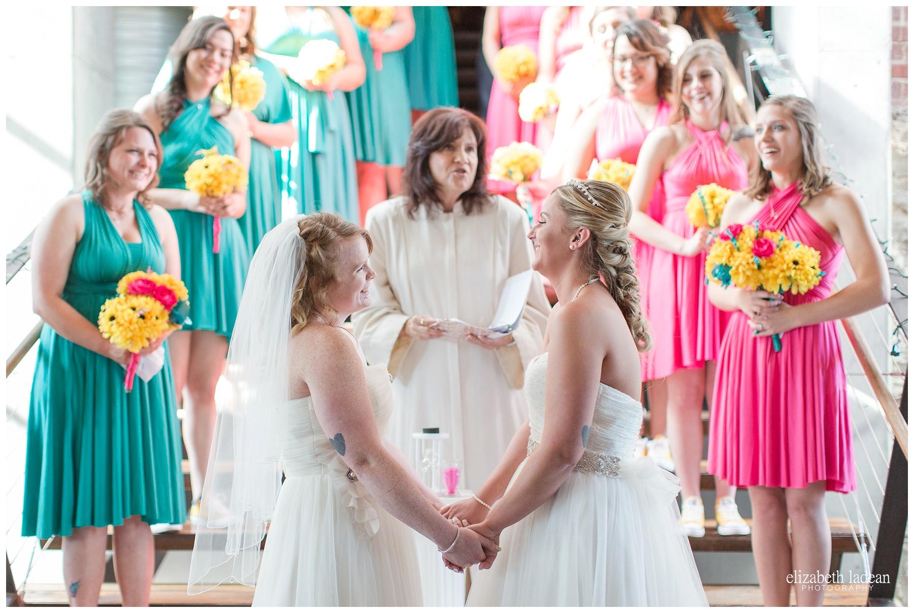 Wedding ceremony at Thompson Barn