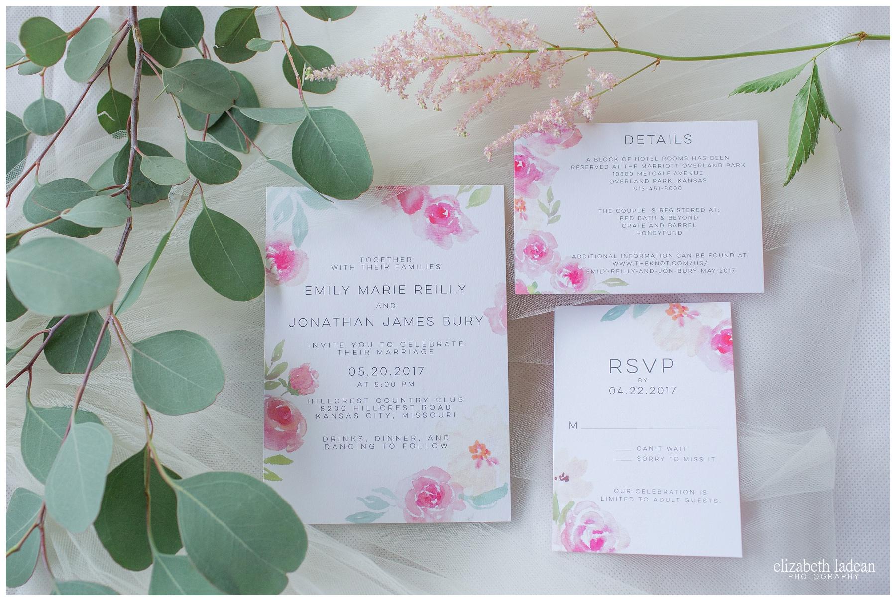 Pink wedding invitation suite