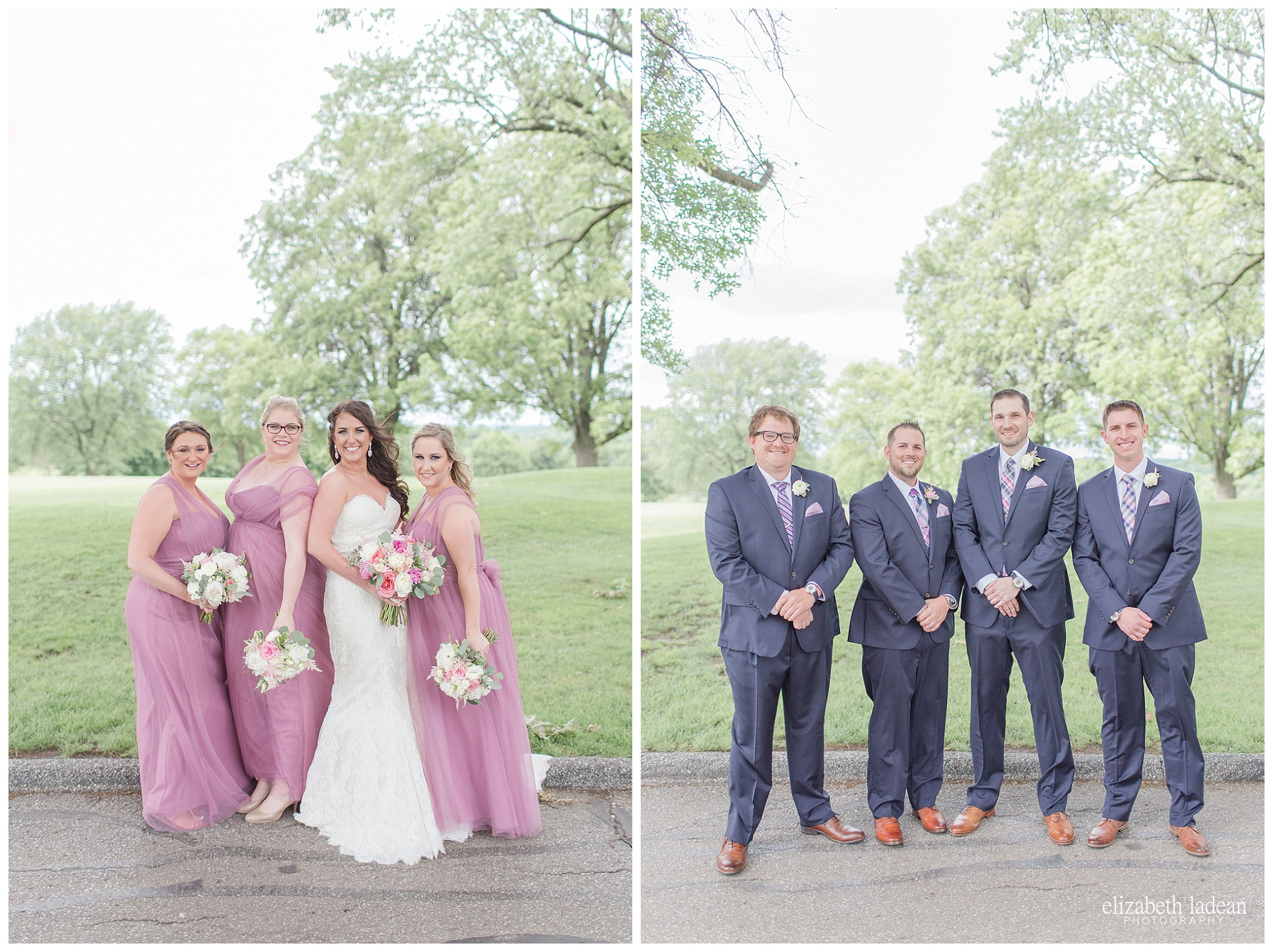 Bridal Party at Hillcrest Country Club Wedding Photos