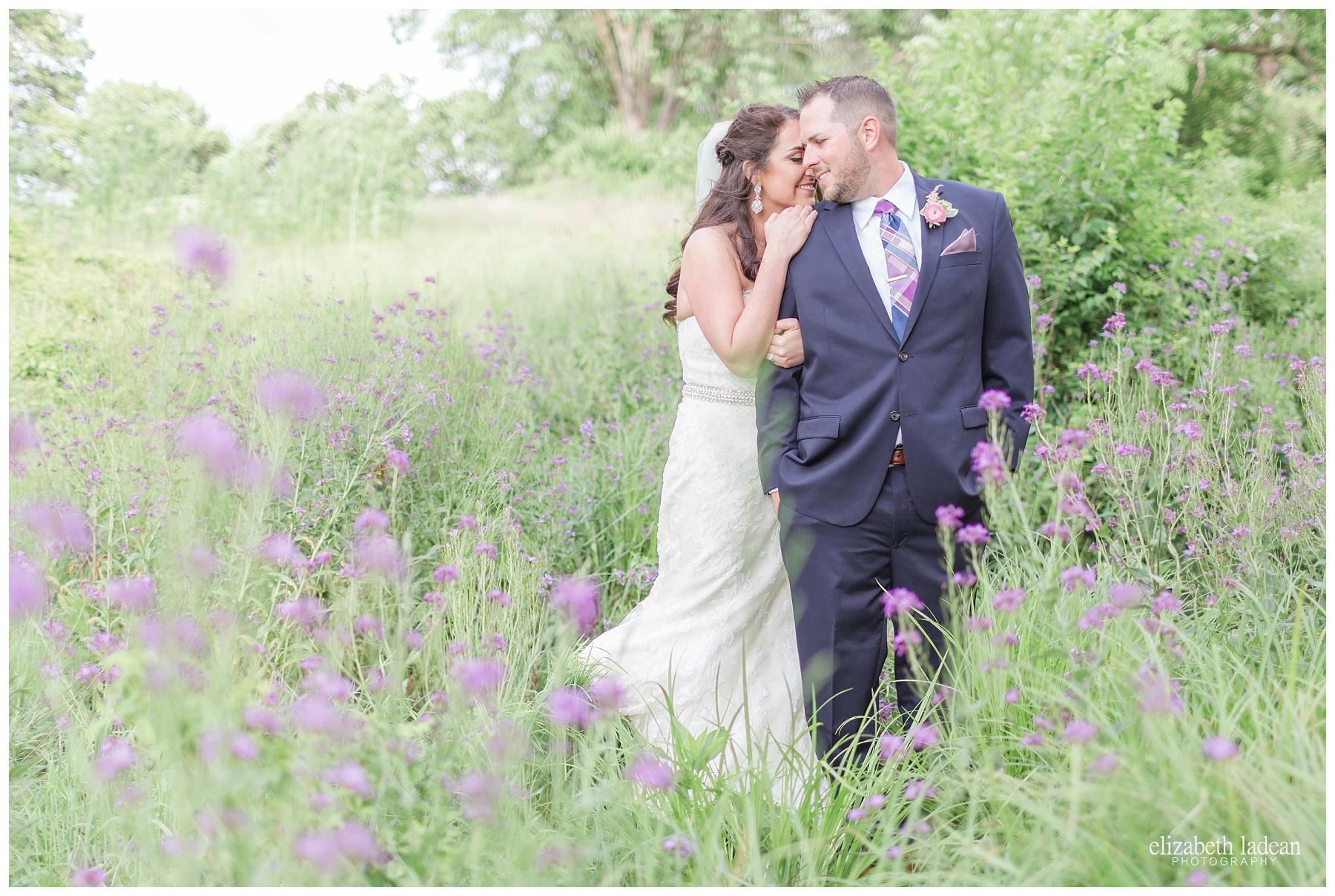 Purple wildflowers wedding photography