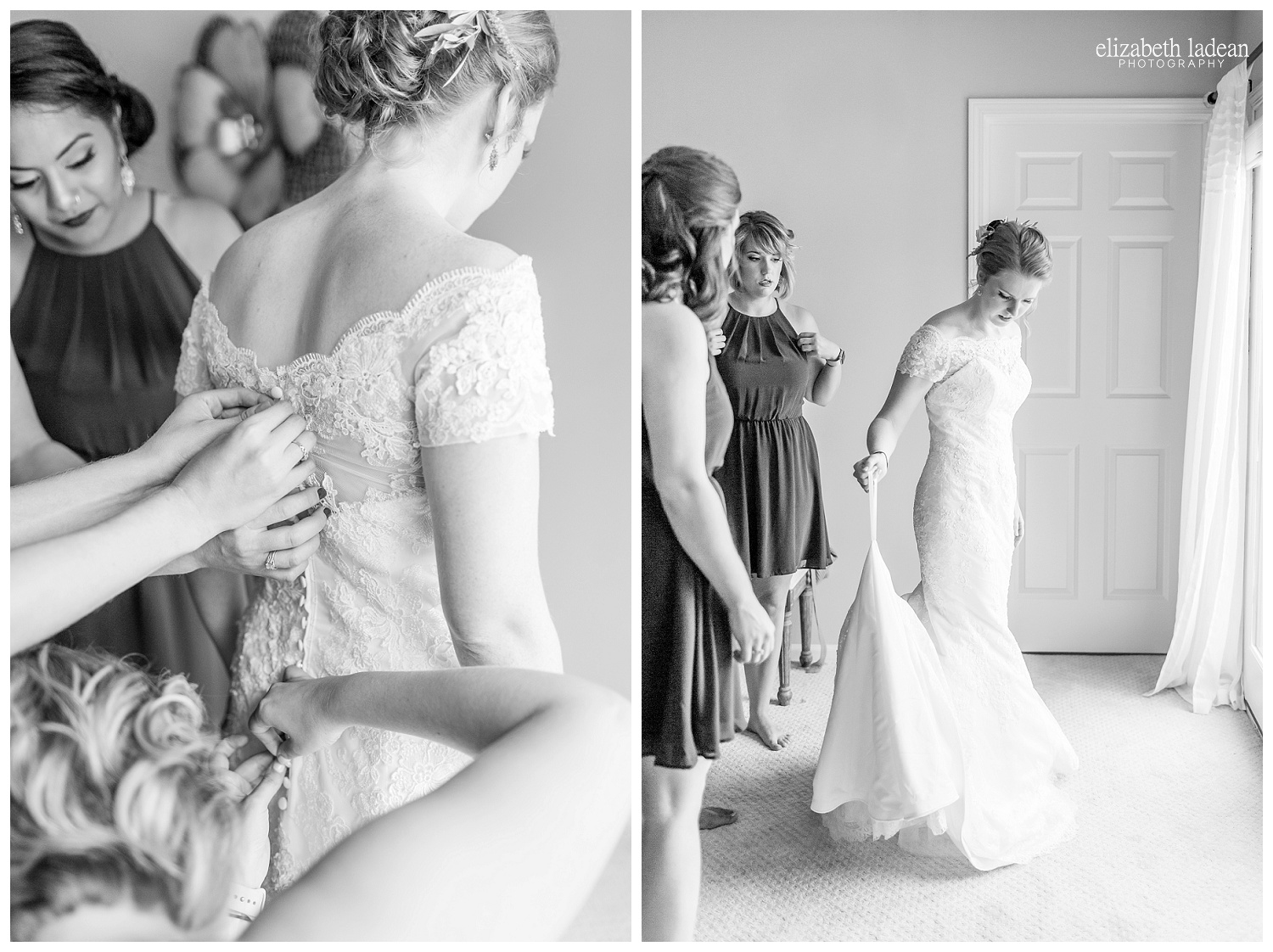 Bride getting ready at The Legacy at Green Hills
