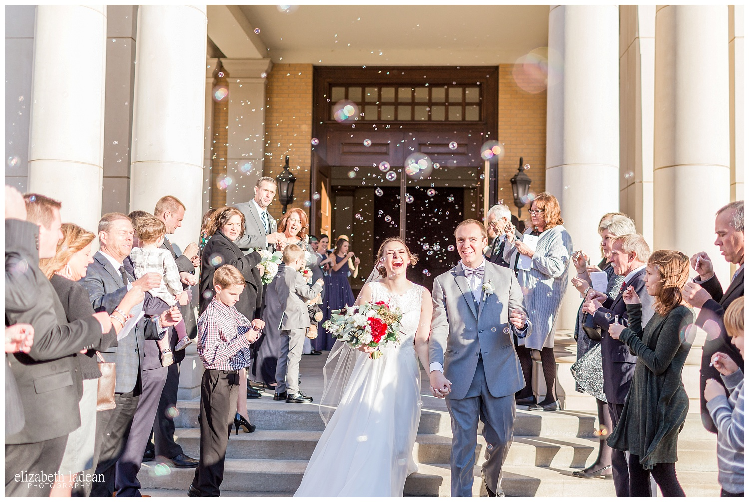bubble exit after ceremony photography