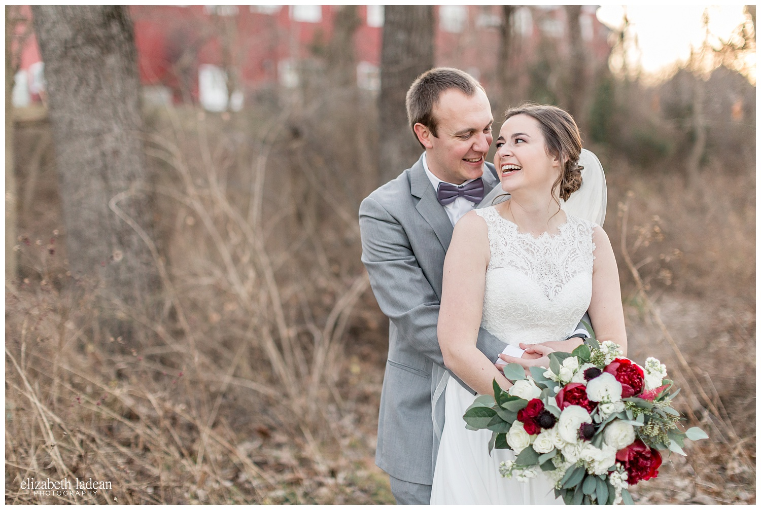 Bride and groom portraits at the Lodge at Ironwoods, Kansas