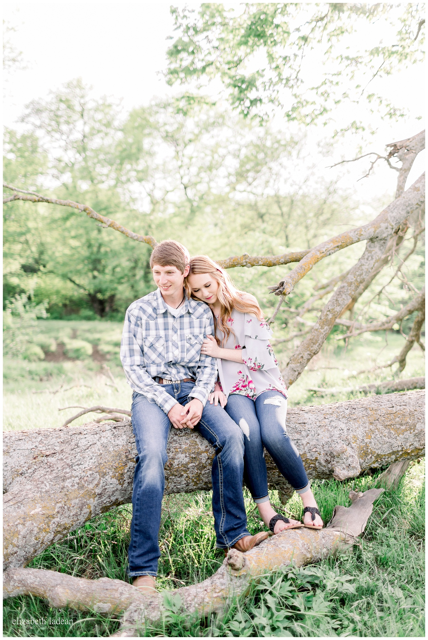 Candid engagement session in Kansas City