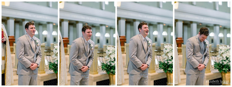 groom reaction wedding photography