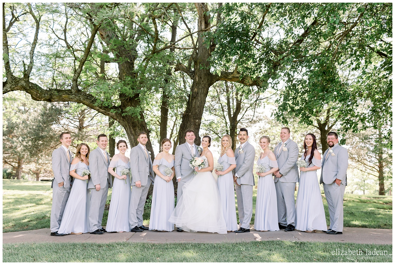 Bridal party wedding photography at Deer Creek, Kansas