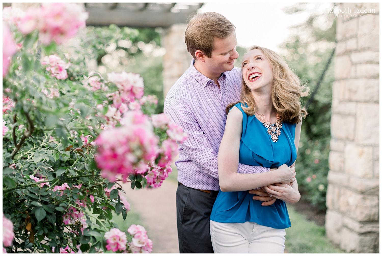 Engagement photos at Loose Park
