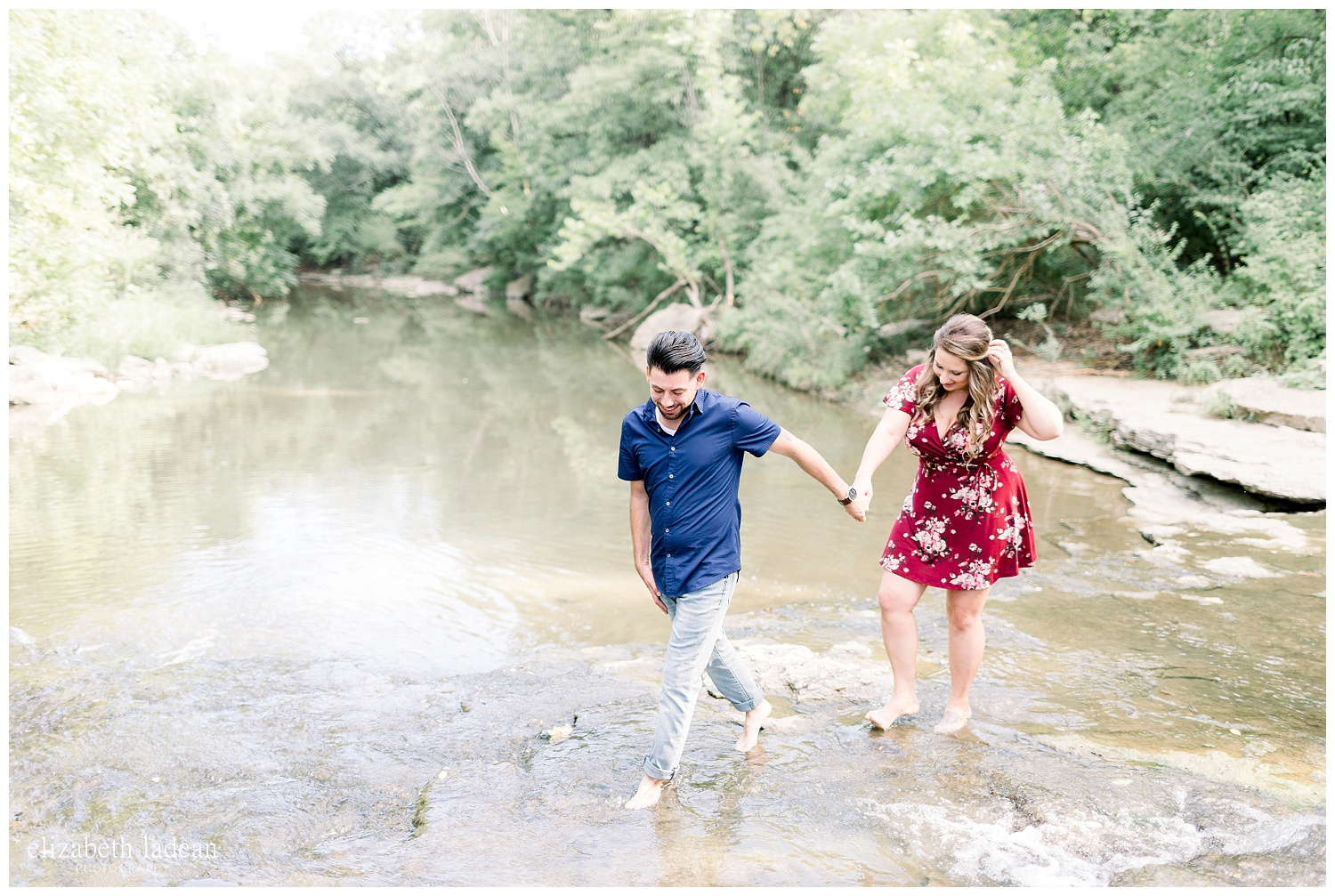 engagement photos in a creek kansas city