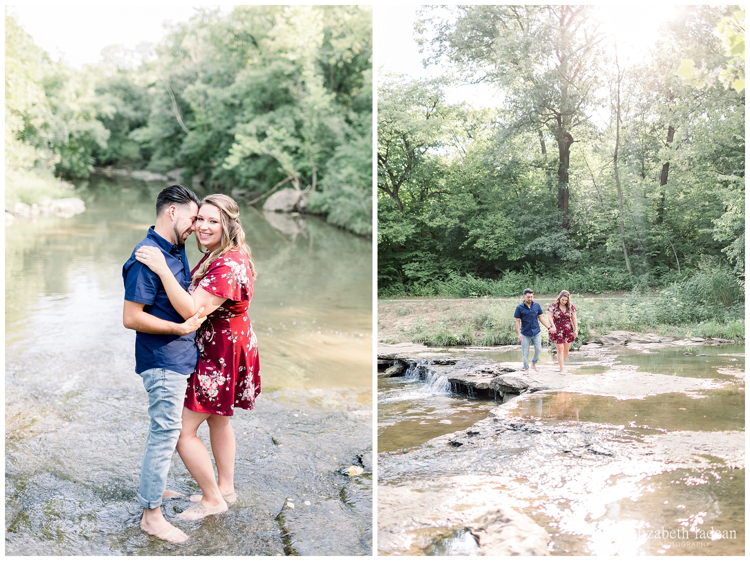 adventurous engagement photos kansas city