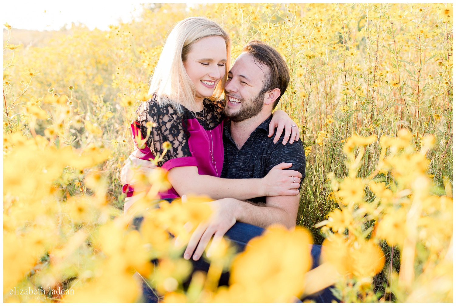 natural light engagement photography in kansas city