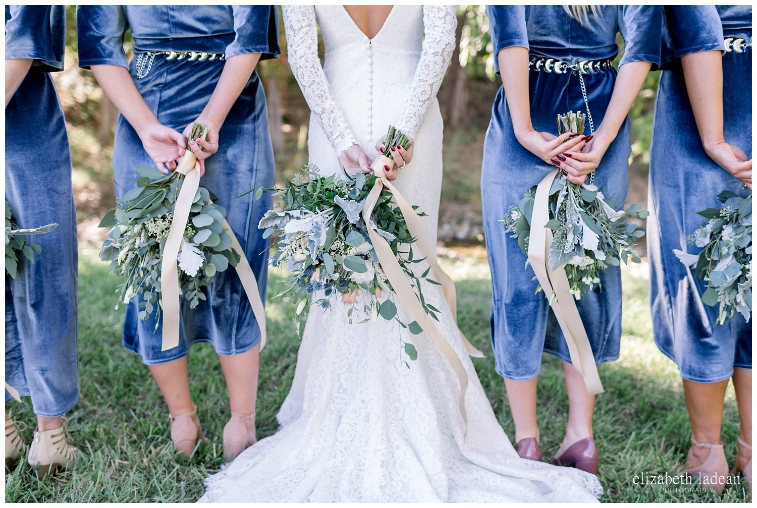 greens and blues wedding flower inspiration