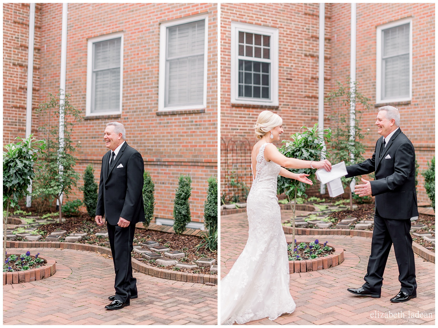 first looks with father photos