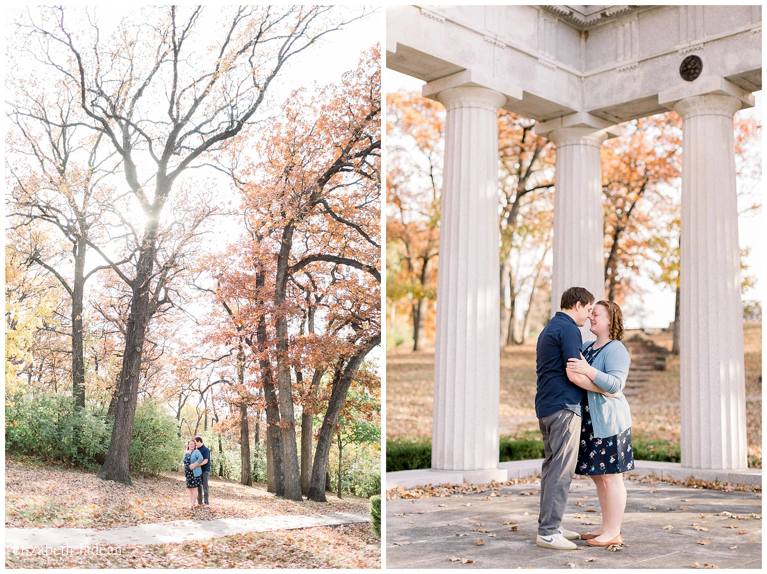 fall engagement session in kansas city