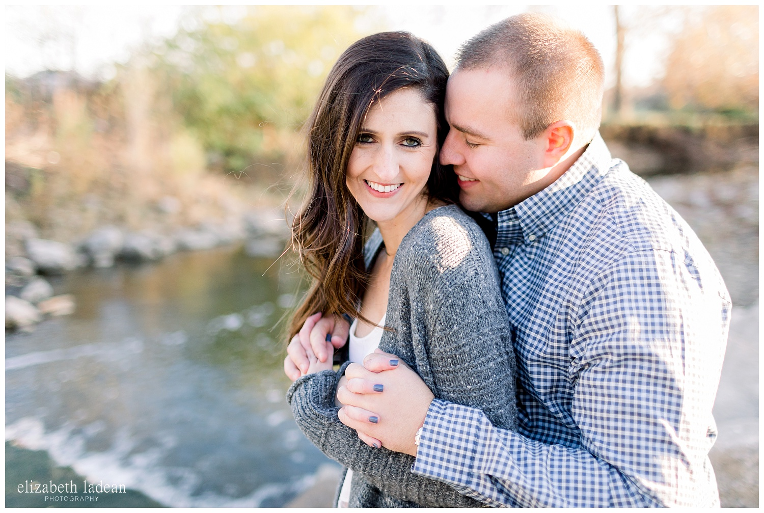 Joyful engagement photography