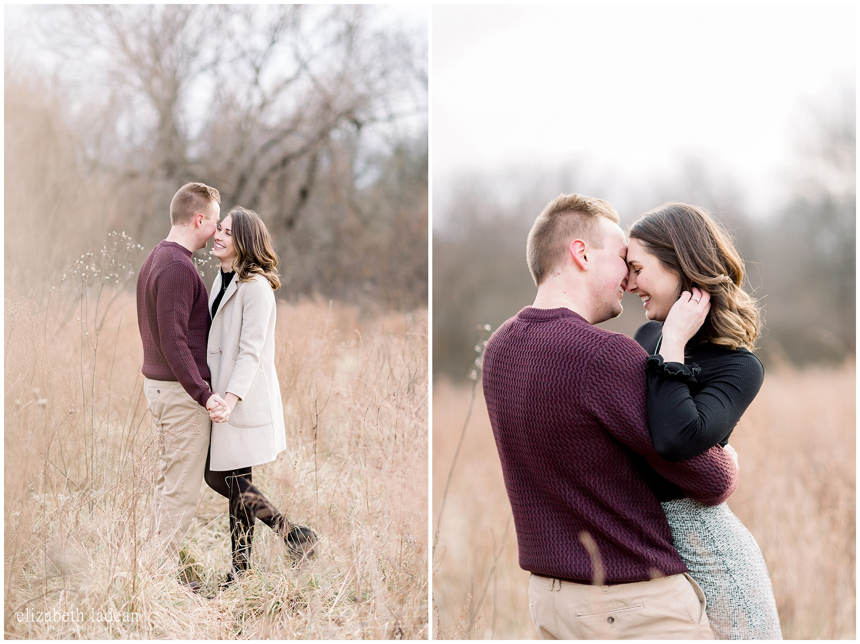 Kansas City winter engagement photography