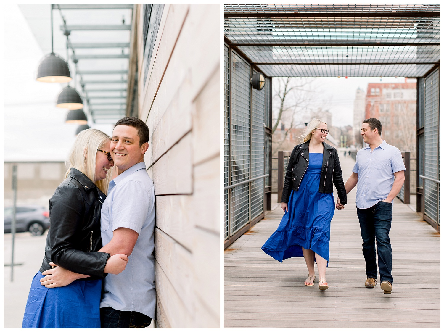 KC River Market engagement photography